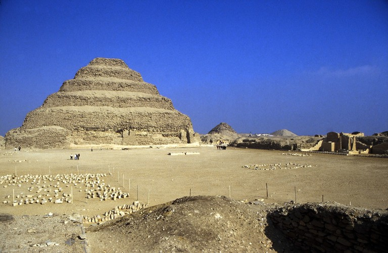 Djoser's Step Pyramid at the Saqqara necropolis