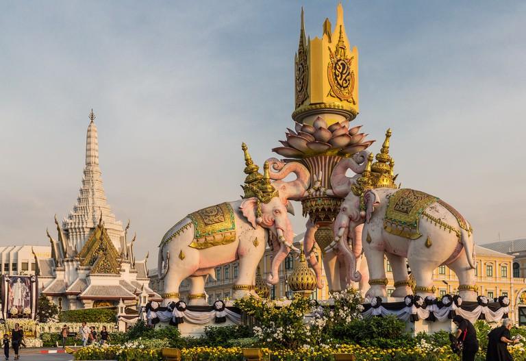 White elephants in Bangkok