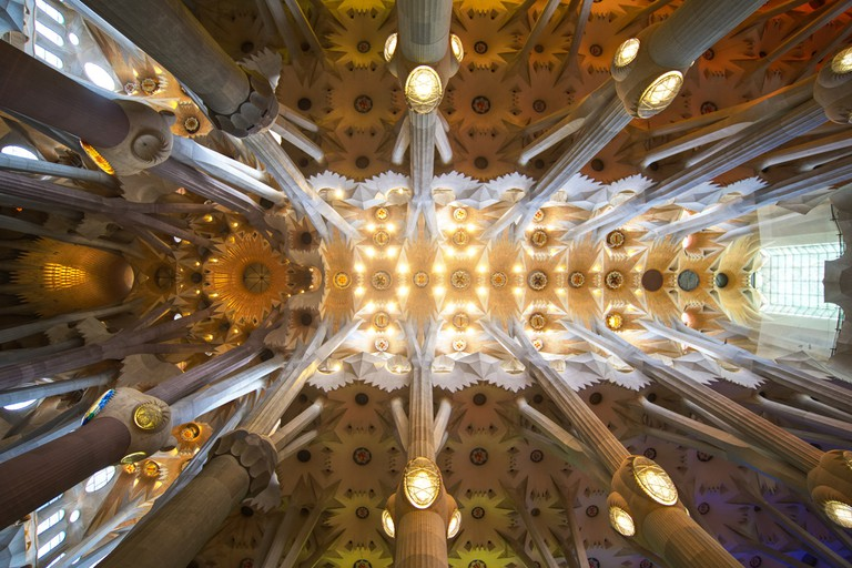 Detail inside the Sagrada Família