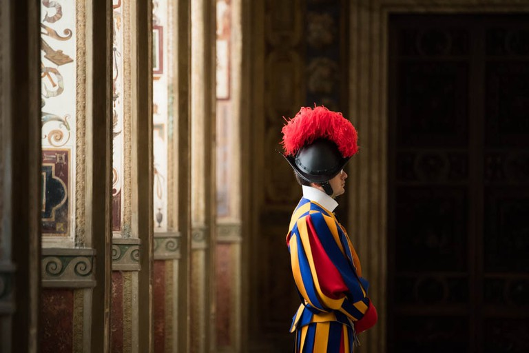 One of the Swiss Guards at The Vatican