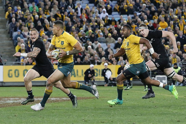 Australia versus New Zealand in rugby union
