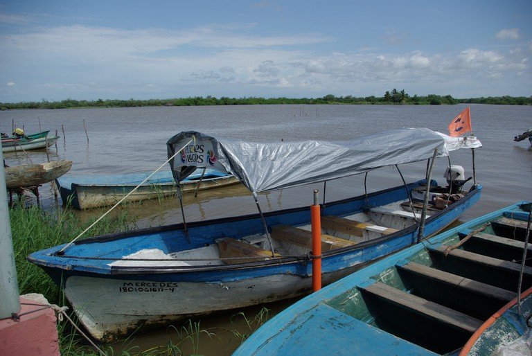 Boats in Mexcaltitán