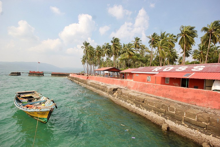 The ferry jetty at Ross Island which runs services to and from Port Blair