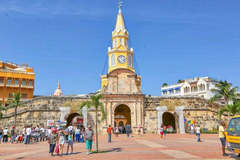 Cartagena's Old City Wall still stands