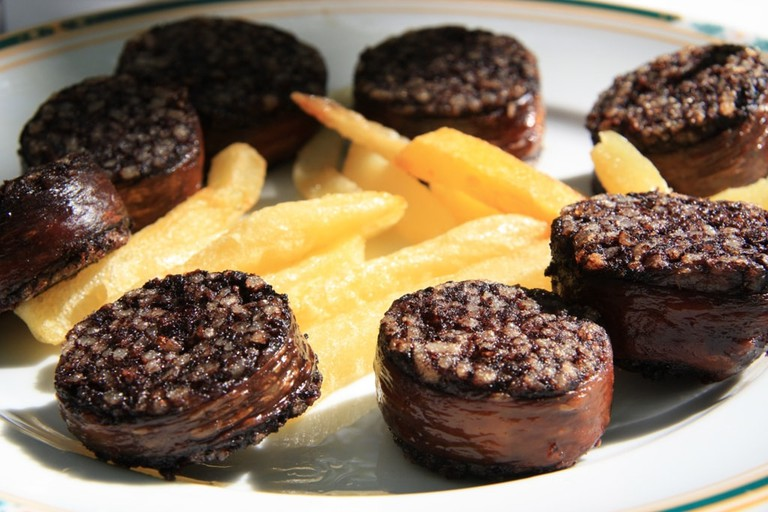 Morcilla de burgos (blood sausage)