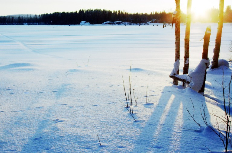 Frozen lake in North Karelia