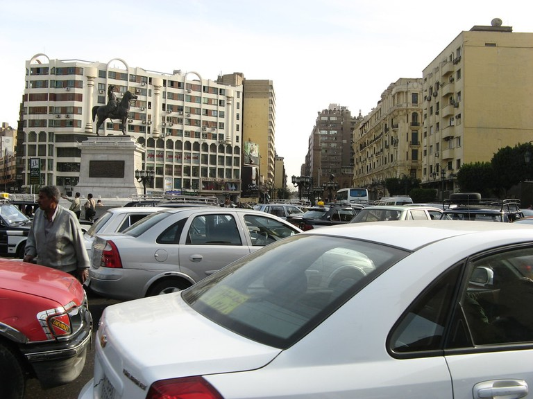 Traffic in Aataba district, Cairo