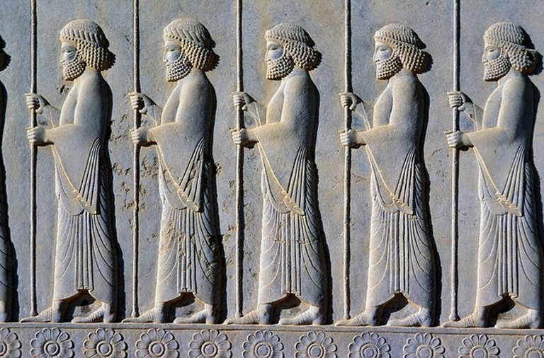 Ancient reliefs at Persepolis