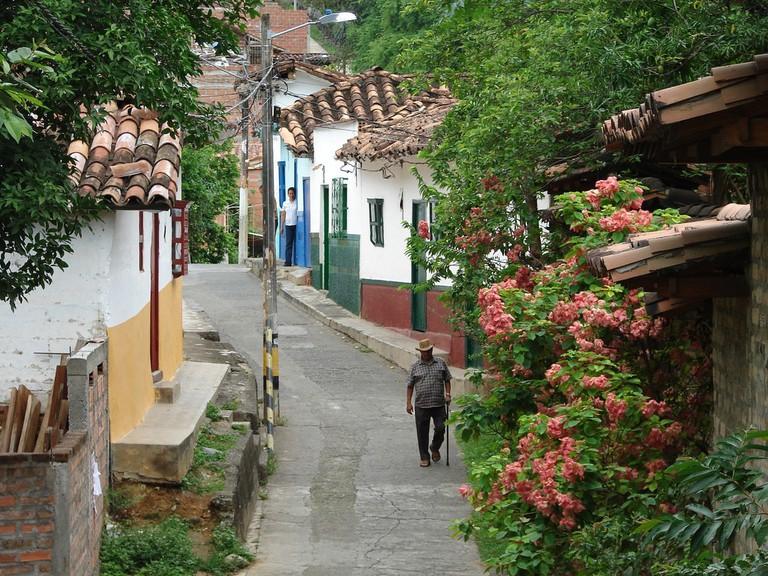 The sleepy streets of Santa Fe de Antioquia explode into celebrations during Holy Week