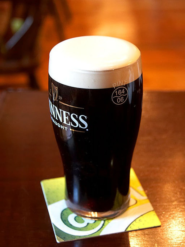 It takes two pours to craft the perfect pint of Guinness