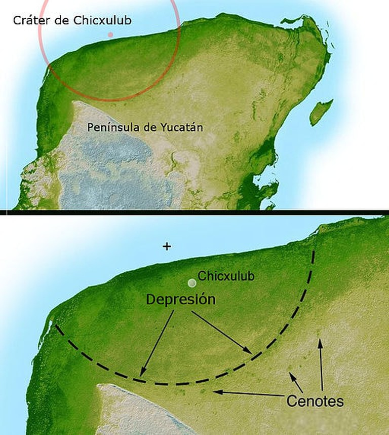 Chicxulub crater impact map