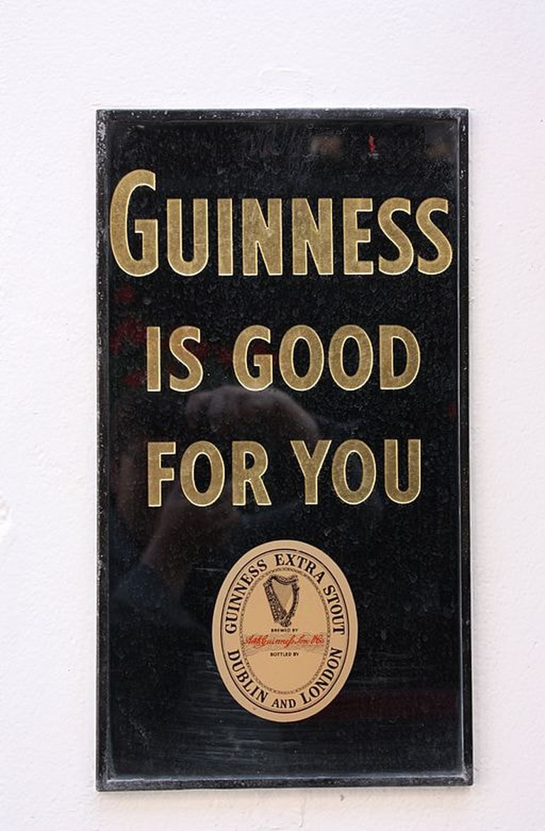 A vintage advert for Guinness