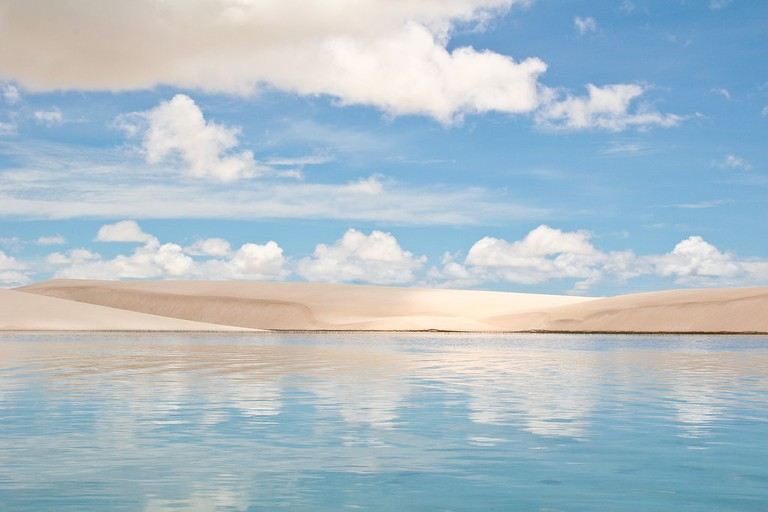 Lençóis Maranhenses with its crystal clear freshwater lagoons and white dunes
