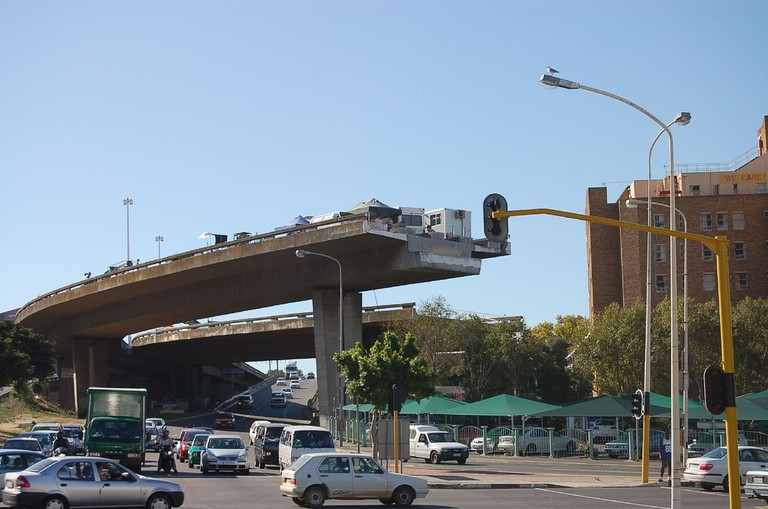 Cape Town's unfinished freeway from ground level