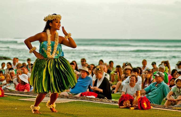 Kuhio Park hula dancer