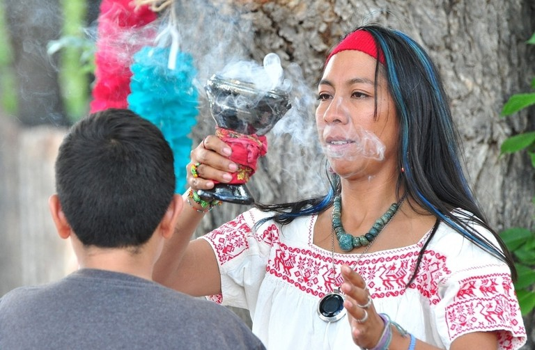 Incense is an important part of curandero ceremonies
