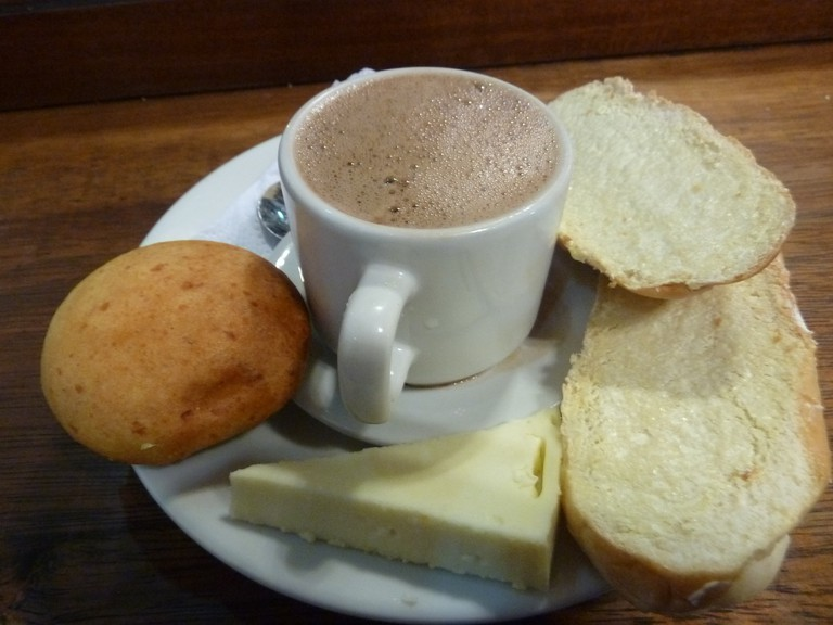 Hot chocolate with cheese