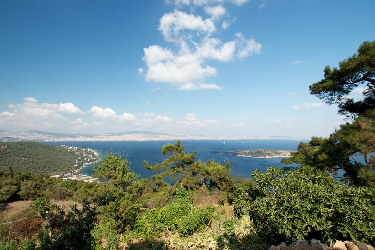 The beautiful view from the top of Büyükada