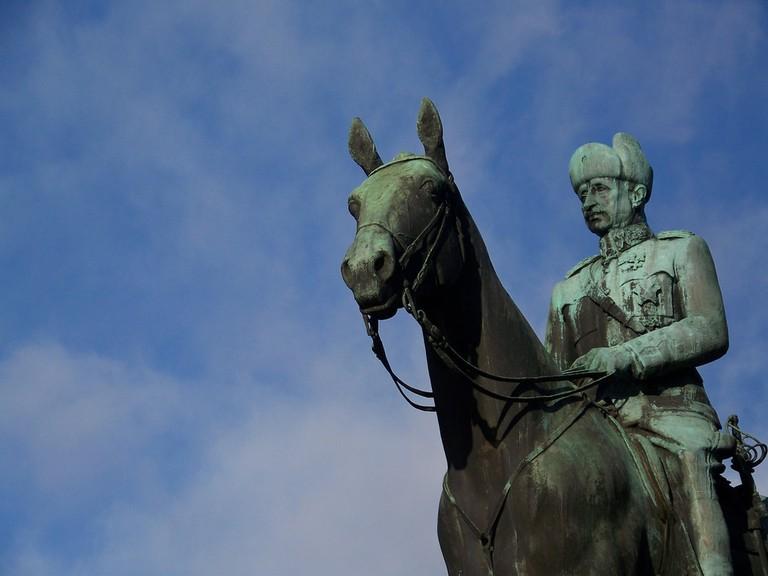 Statue of Mannerheim in Helsinki