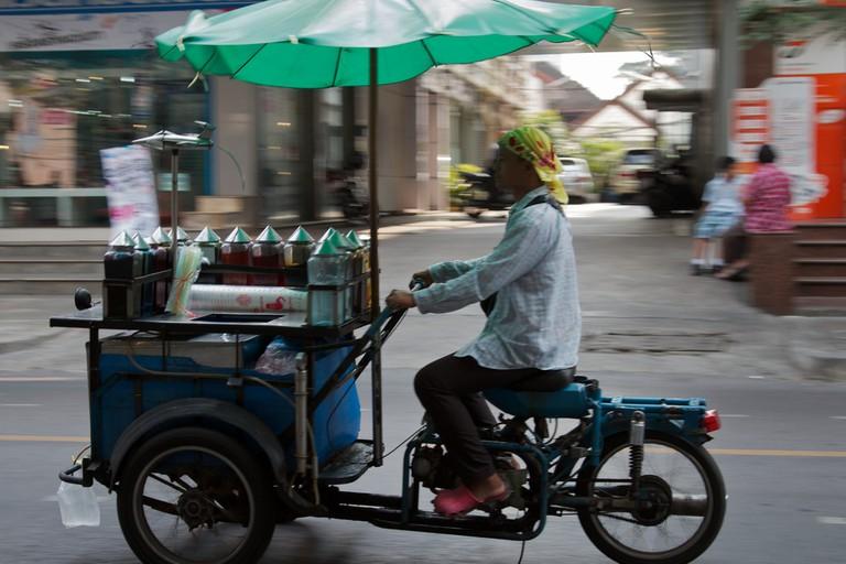Drinks seller in Sathorn