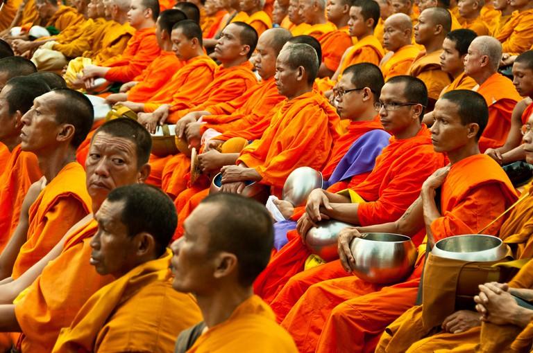 Many Thai monks