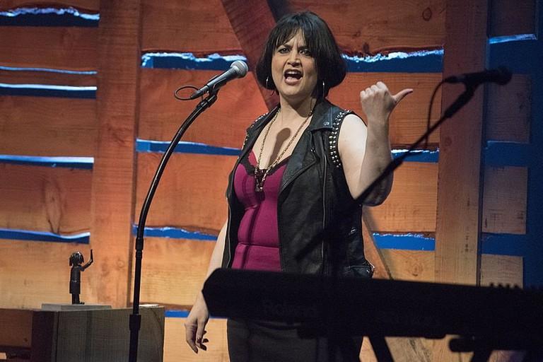 Ruth Jones portraying Her Gavin and Stacey character Vanessa 'Nessa' Jenkins