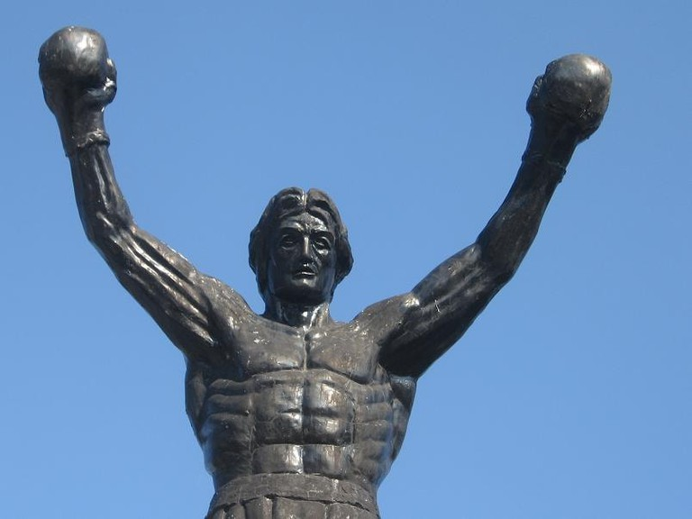 The statue of Rocky Balboa in Žitište