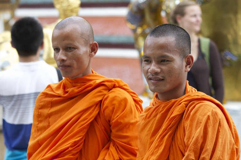 Young Thai monks