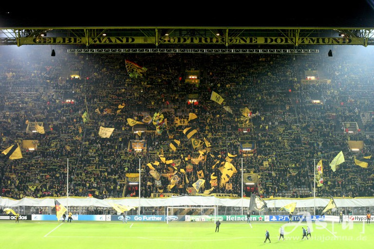 "The ""Yellow Wall"" at the Westfalenstadion, Dortmund"