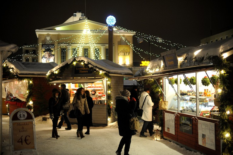 Christmas market in Tampere