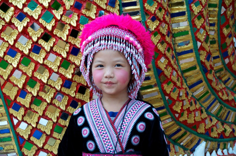 A young girl from one of Chiang Mai's ethnic communities