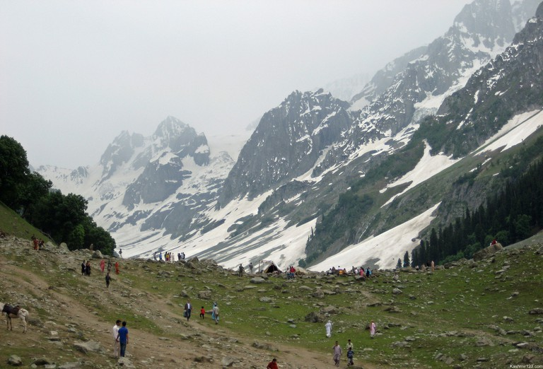 The Thajiwas Glacier near Kashmir's Sonamarg is a popular trekking destination