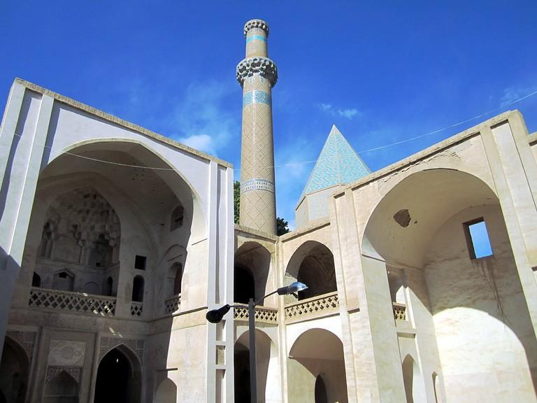 The courtyard of Sheikh Abolsamad Mosque in Natanz