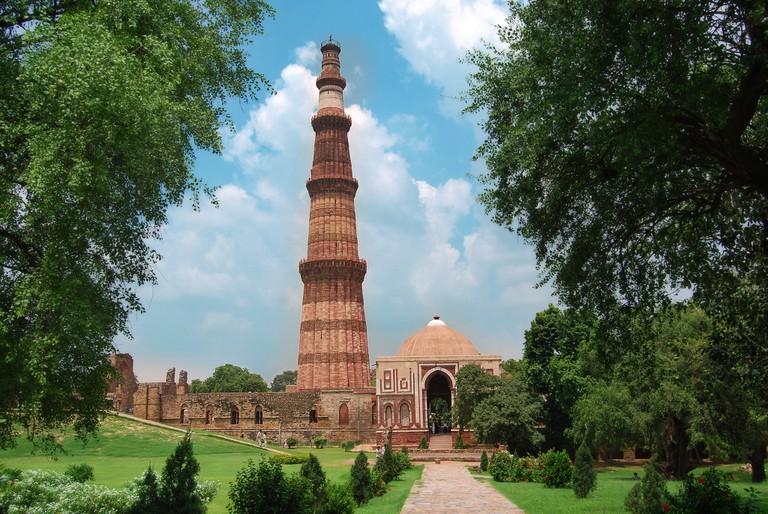 Qutub Minar is the world's tallest brick minaret