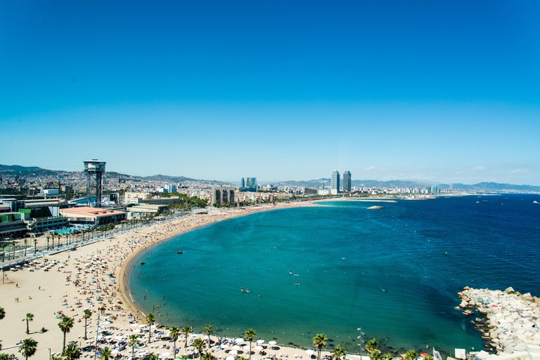 The Barceloneta is now popular with tourists