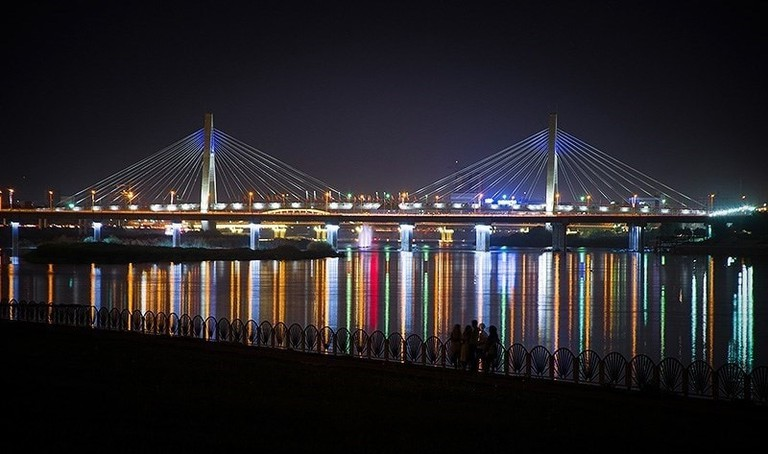 Seventh Bridge of Ahvaz at night