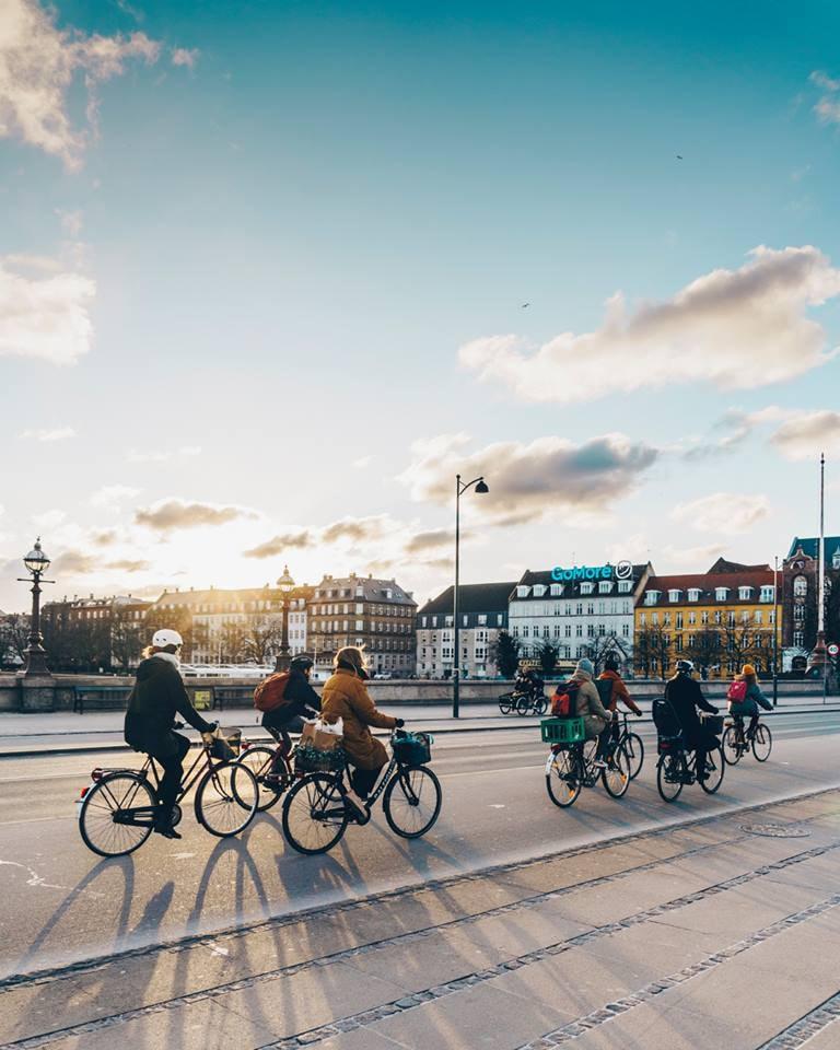 Always cycling in Copenhagen