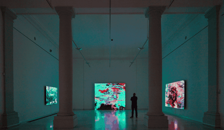 Angel Vergara, installation view. From the 'Scene to Scene' exhibition at Royal Museums of Fine Arts of Belgium, Brussels 2017. Courtesy of Axel Vervoordt Gallery