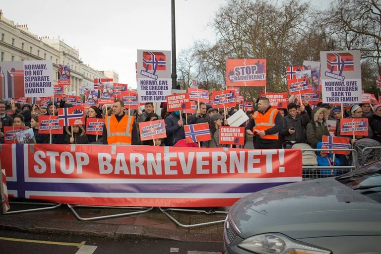 Anti-Barnevernet demonstration in London