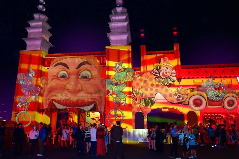 Artist's impression of 'The Spirit of Fun' at Luna Park © Vivid Sydney