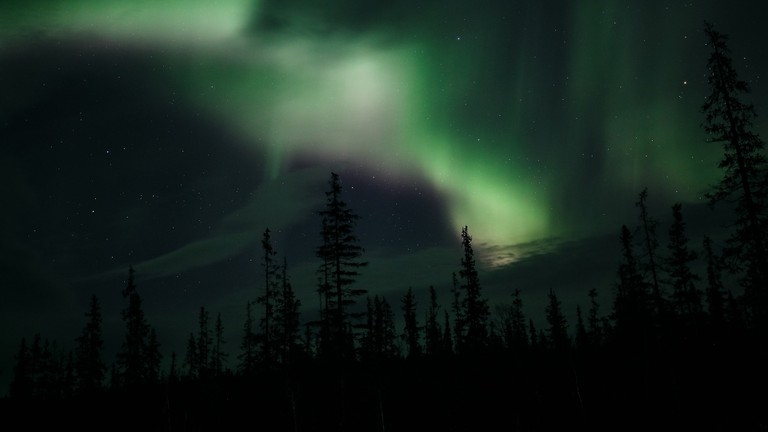 The northern lights are easily spotted in Teriberka