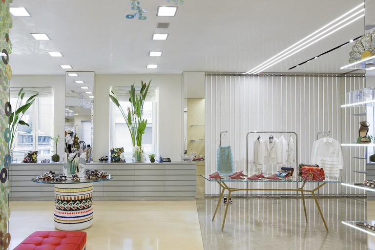The tranquil shopping space of Biffi Boutique on Corso Genova, Milan