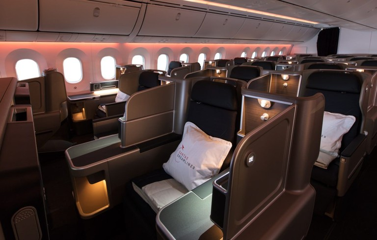 Business suites on the new Qantas Dreamliner
