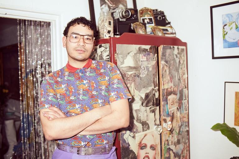Gomez in his Bushwick studio