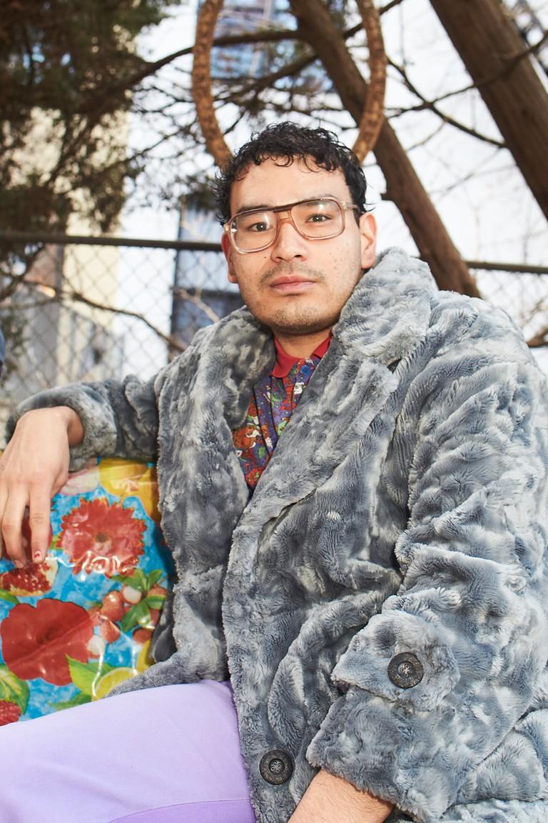 Gomez outside his Bushwick studio