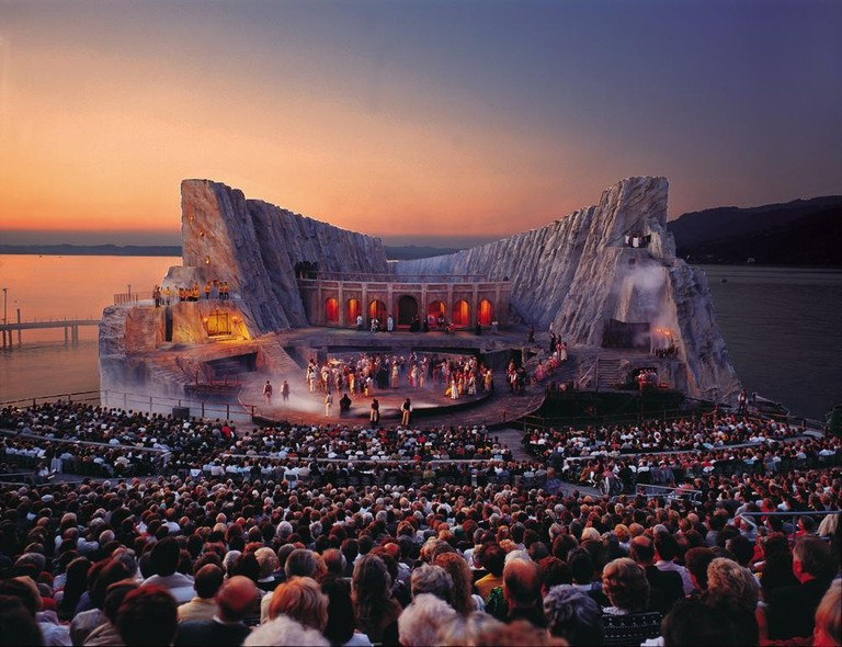 A production of Carmen at sundown