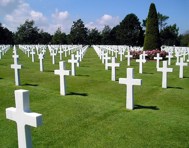 The impactful American Cemetery at Colleville-sur-Mer