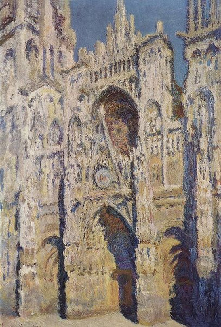 claude monet rouen cathedral sunlight