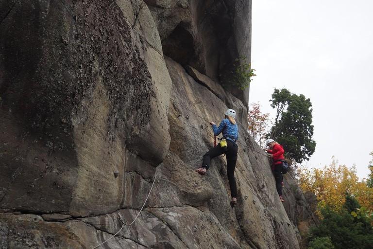 Climbing on Slottsfjell
