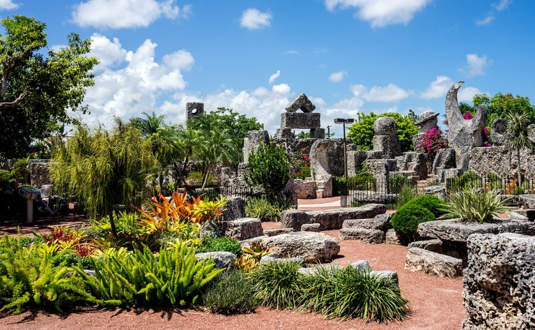 The Coral Castle has a geomantic landscape
